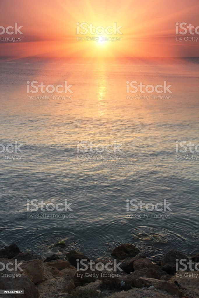Sunset over the sea. royalty-free stock photo