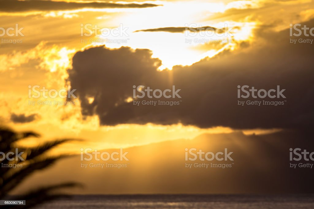 Sunset over the sea foto de stock royalty-free
