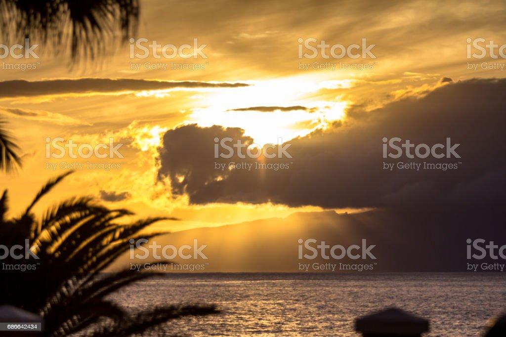 Sunset over the sea Lizenzfreies stock-foto
