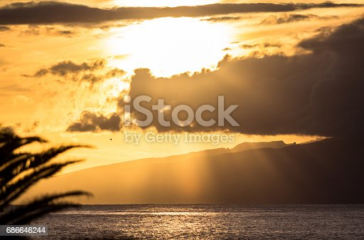 Sunset Over The Sea Stock Photo & More Pictures of Atlantic Islands