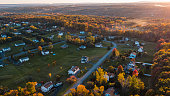 istock Sunset over the small American town in mountains. 1281556334