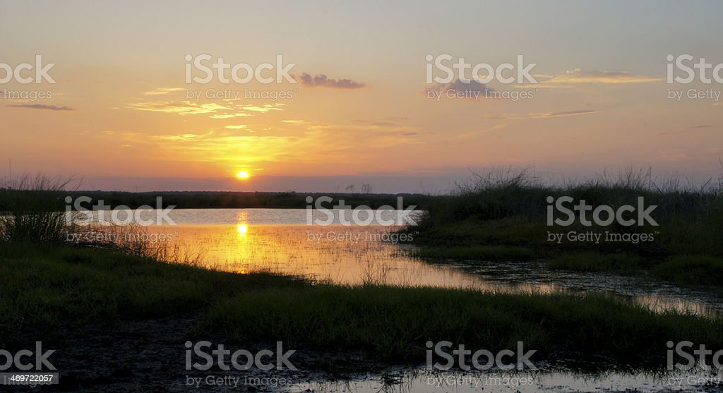 Sunset over the St Johns River stock photo