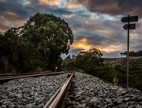 sunset over the track