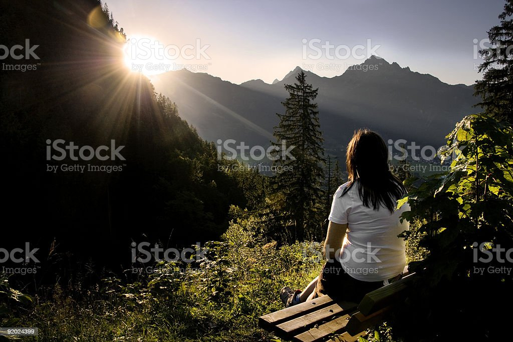 Sunset over the Valley royalty-free stock photo