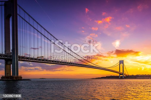 Verrazano Bridge, Brooklyn, NY. The bridge was named after Giovanni da Verrazano, who, in 1524, was the first European explorer to sail into New York Harbor