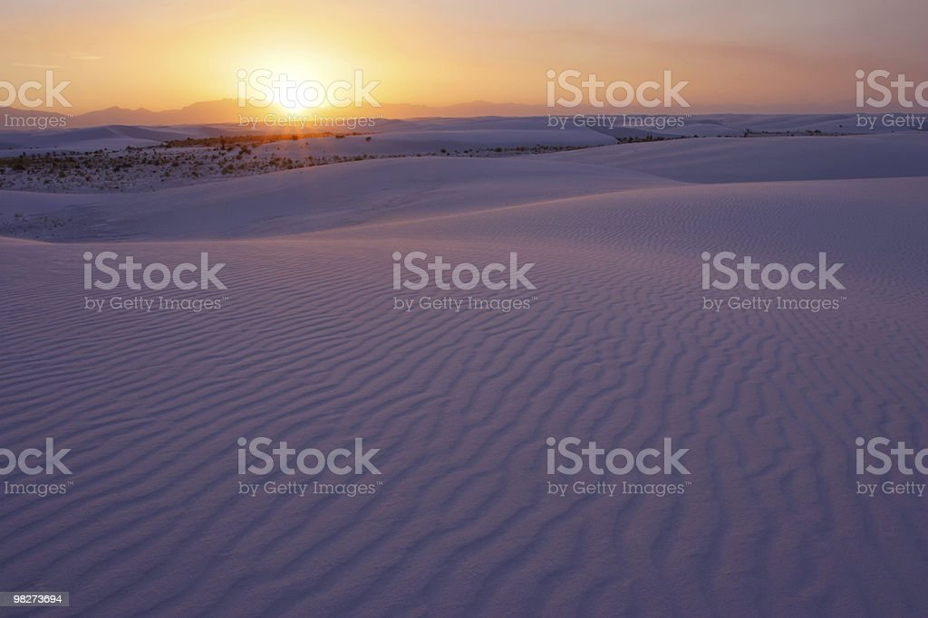 Sunset over the White Sands of NM royalty-free stock photo