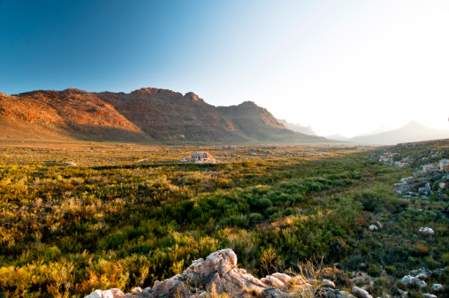 Sunset Over Valley In Cederberg Stock Photo - Download Image Now
