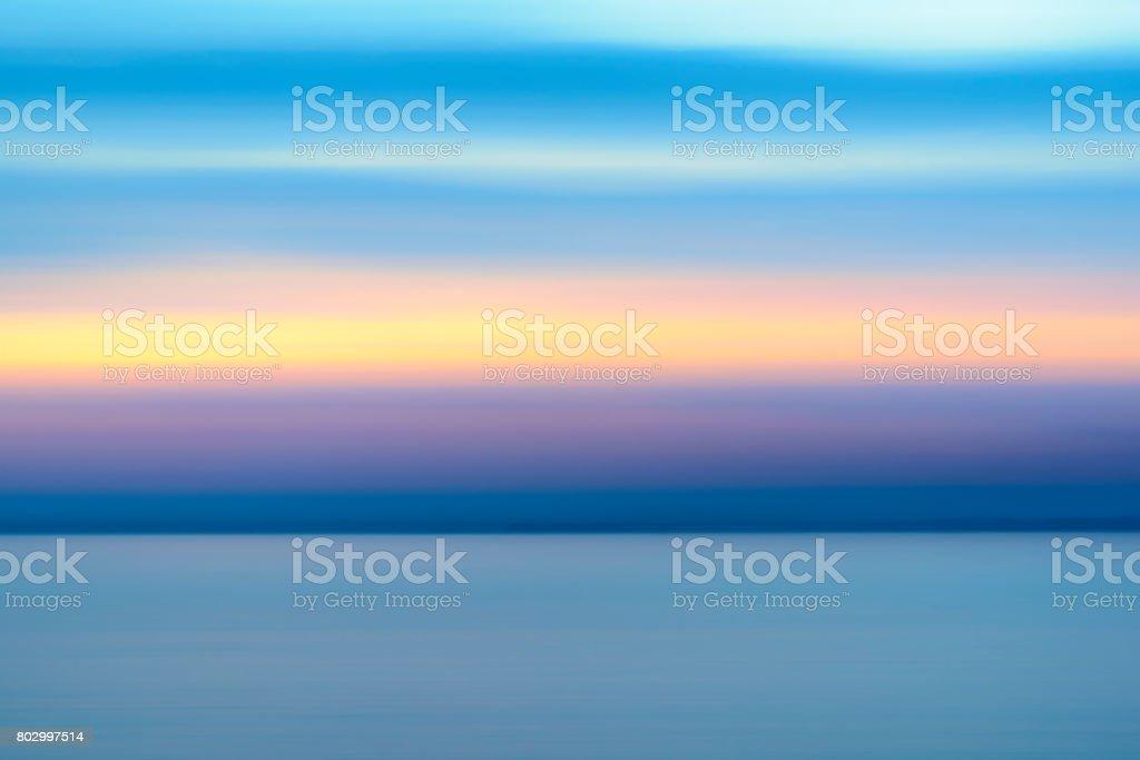 Sunset over Vestfjord from Vesteralen island archipel in winter stock photo