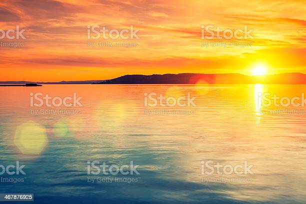 Photo of Sunset over water