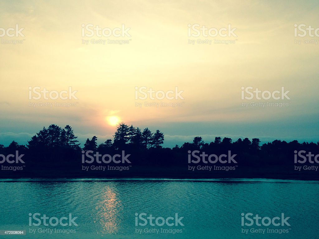 Sunset over water - Royalty-free 2015 Stock Photo