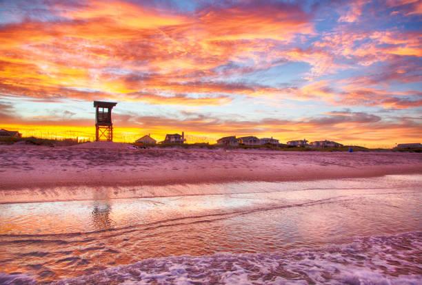 Sonnenuntergang über Wrightsville Beach, NC – Foto