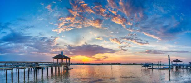 Sonnenuntergang über Wrightsville Beach, North Carolina – Foto