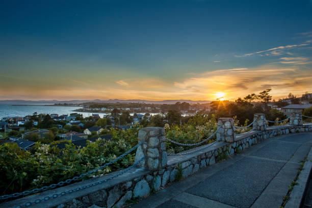 Sunset overlooking Coast stock photo