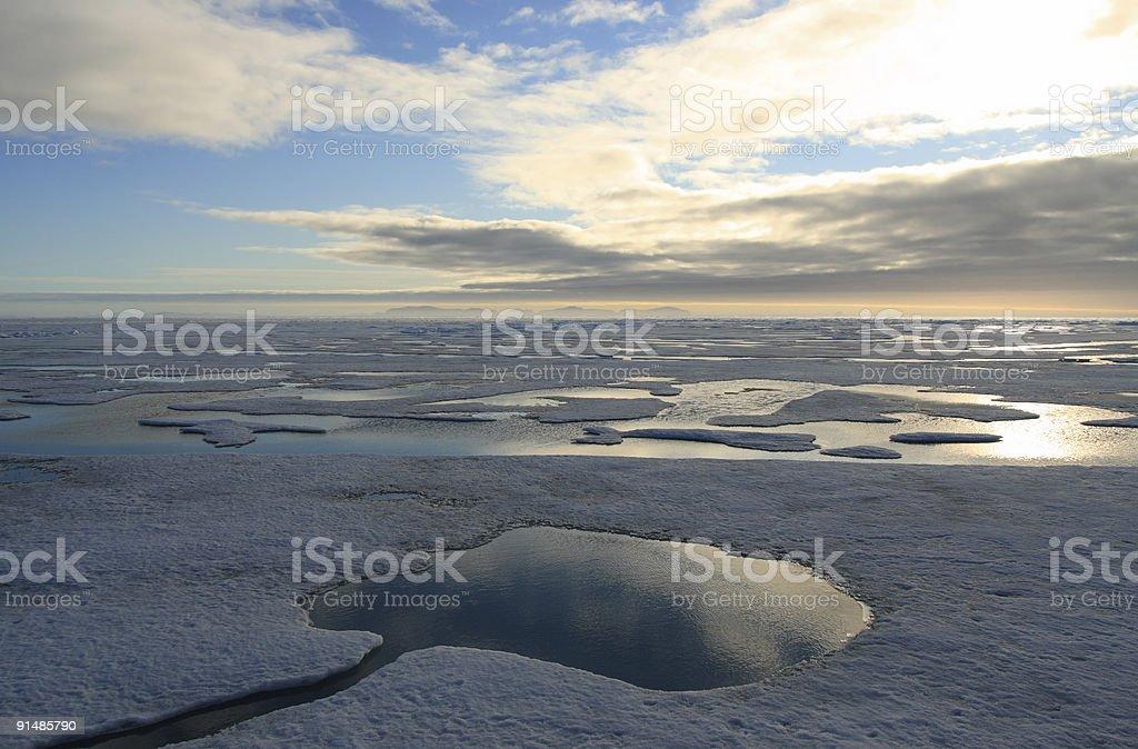 Sunset Pack-Ice royalty-free stock photo