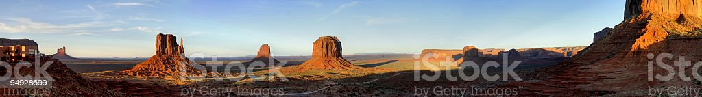 Sunset panorama from the monument valley royalty-free stock photo