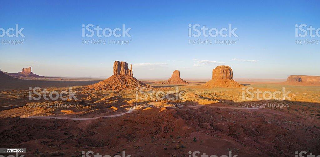 Sunset panorama of Monument Valley in Arizona, USA.