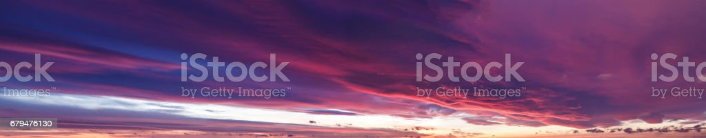Sunset panorama with sparkling colours 免版稅 stock photo