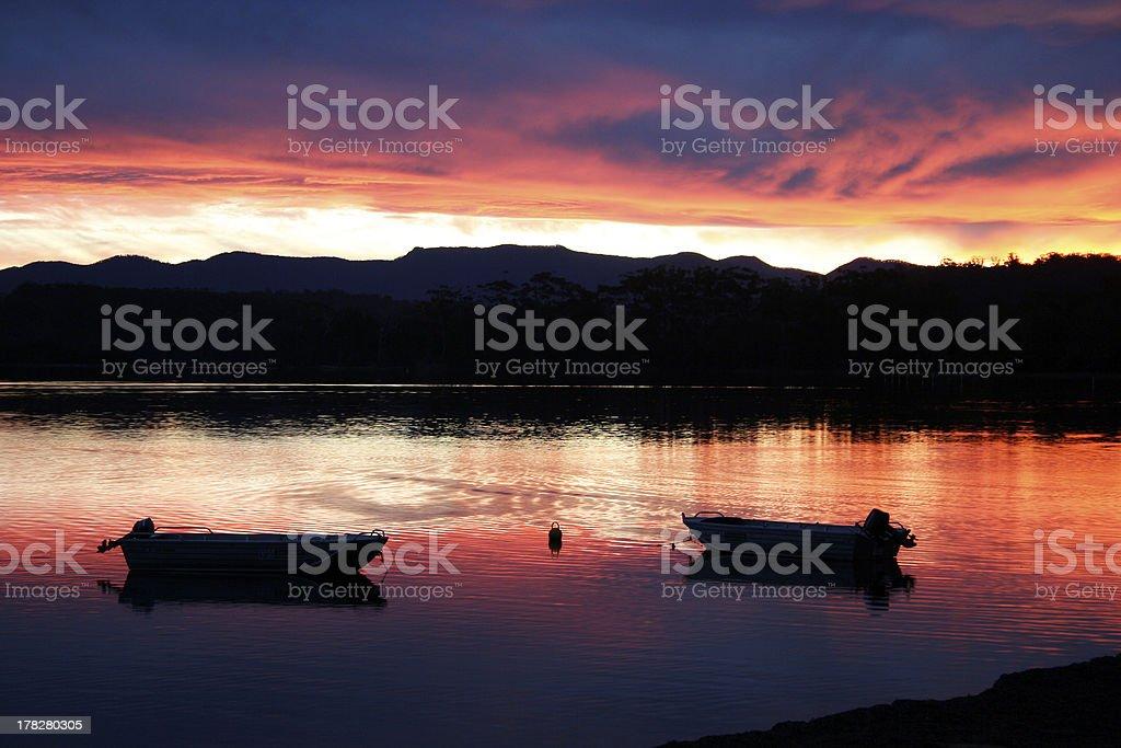 Sunset Peace stock photo