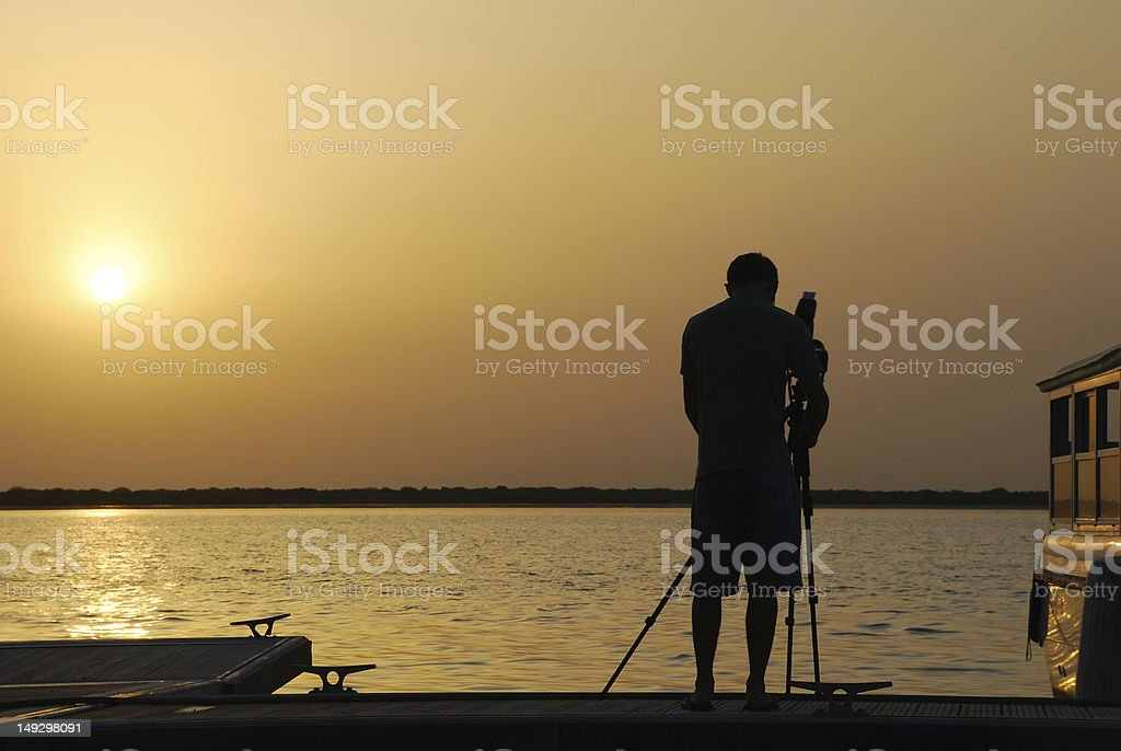 Sunset photographer royalty-free stock photo