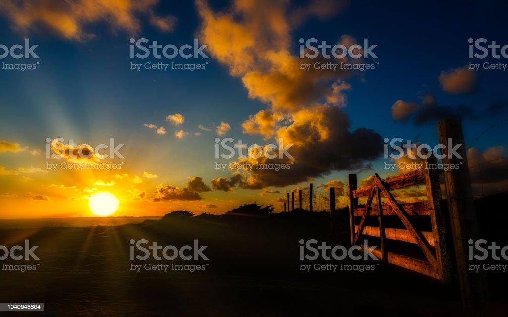 Solnedgång bildbanksfoto