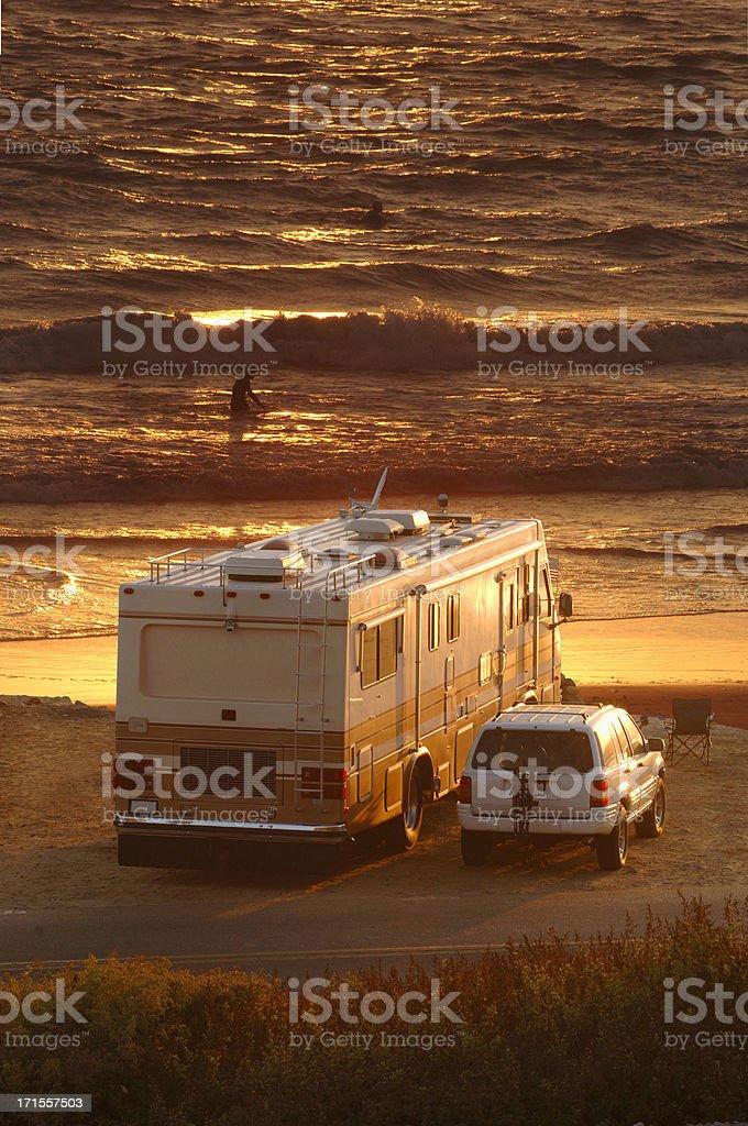 RV Sunset royalty-free stock photo
