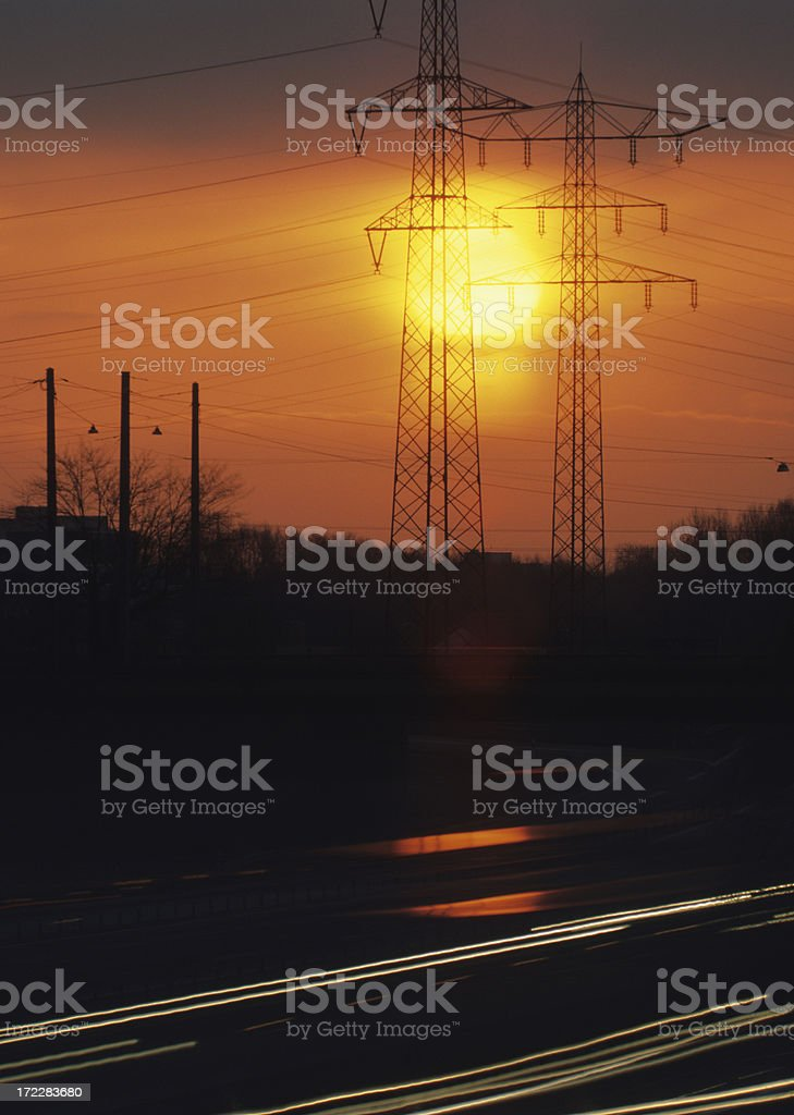 Sonnenuntergang royalty-free stock photo