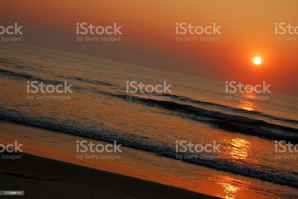 Sunset (tilt) royalty-free stock photo