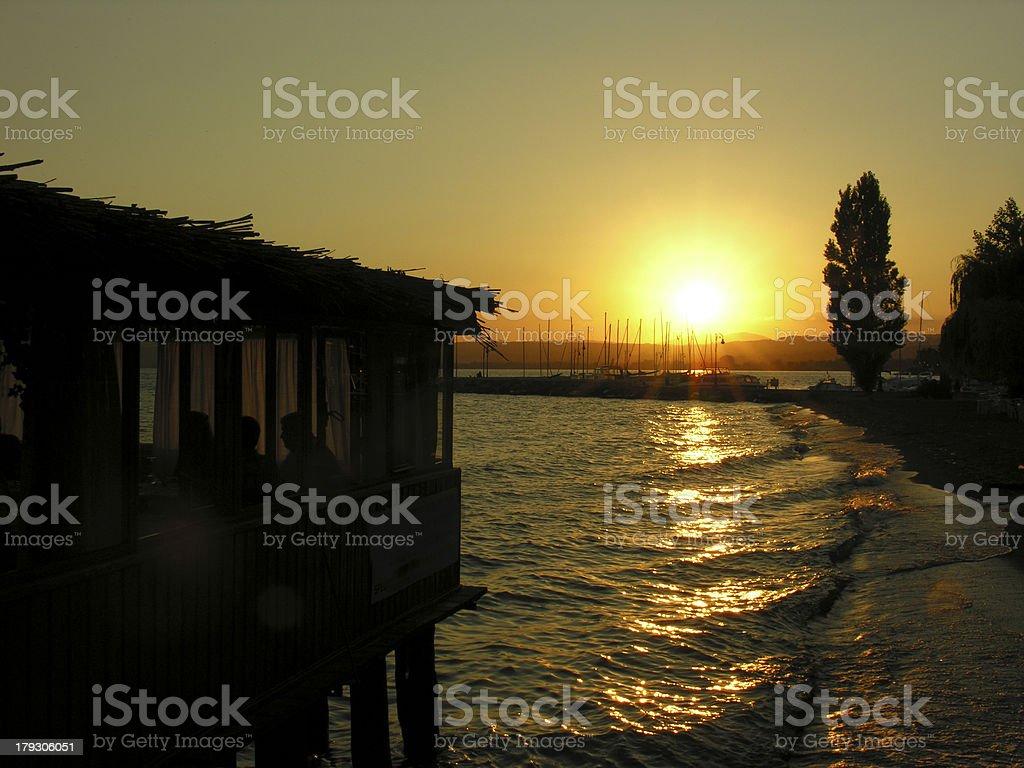 sunset royalty-free stock photo