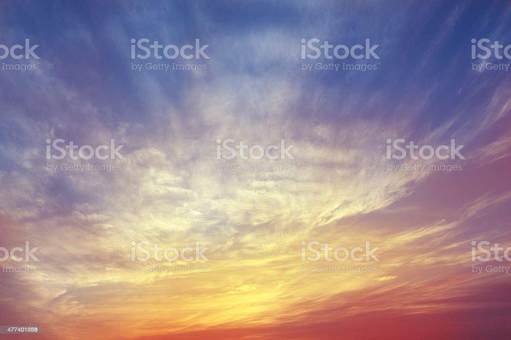 Sunset(Sunbeam) stock photo