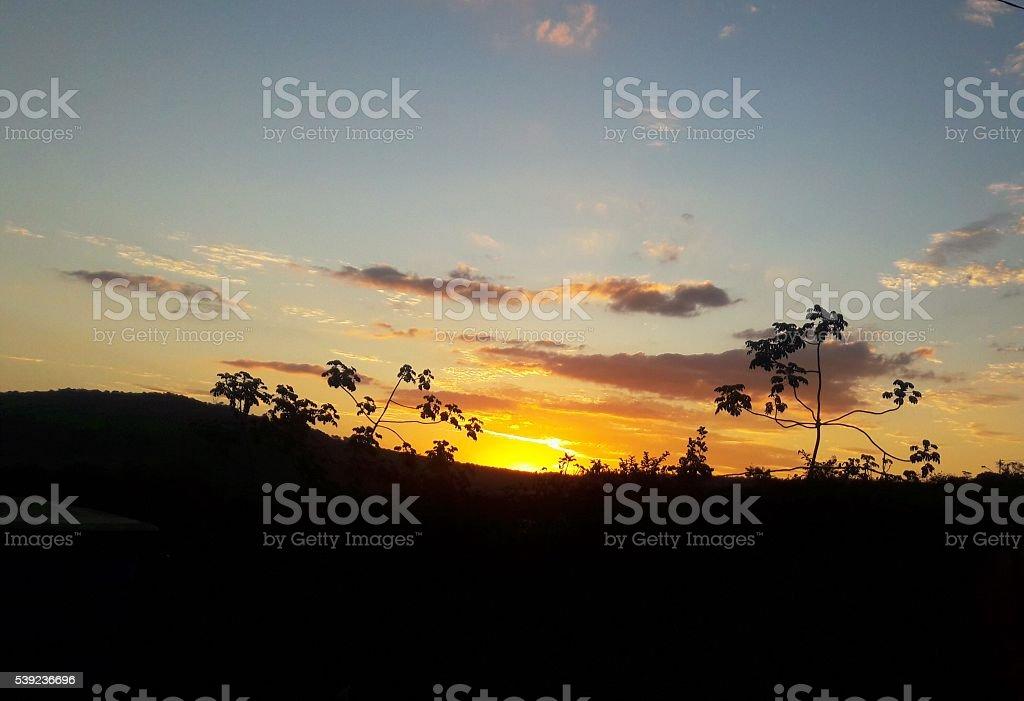 Puesta de sol foto de stock libre de derechos