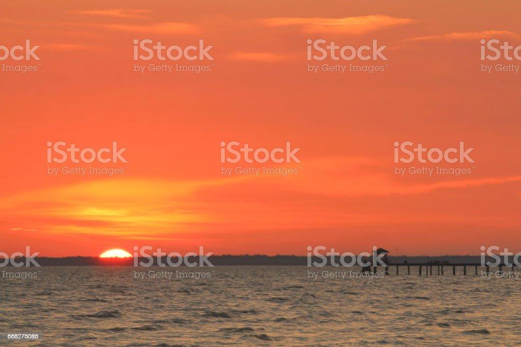 sunset foto stock royalty-free