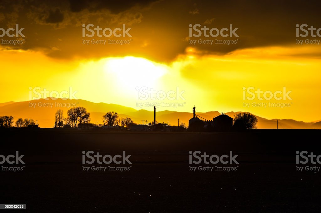 Sunset foto de stock royalty-free