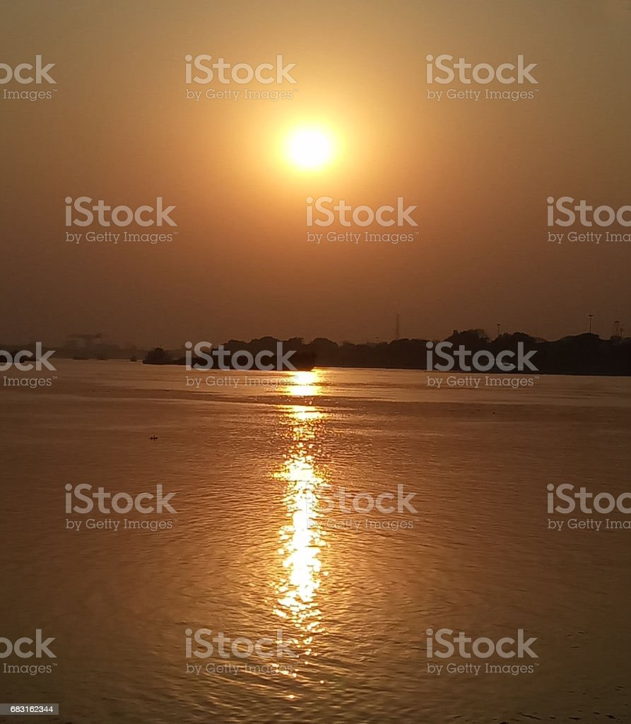 Sunset royalty-free 스톡 사진