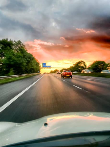 M56 Sunset stock photo