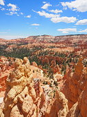 Sunset point, Bryce Canyon, Utah, USA. Beginning of Queen's garden trail and Navajo loop