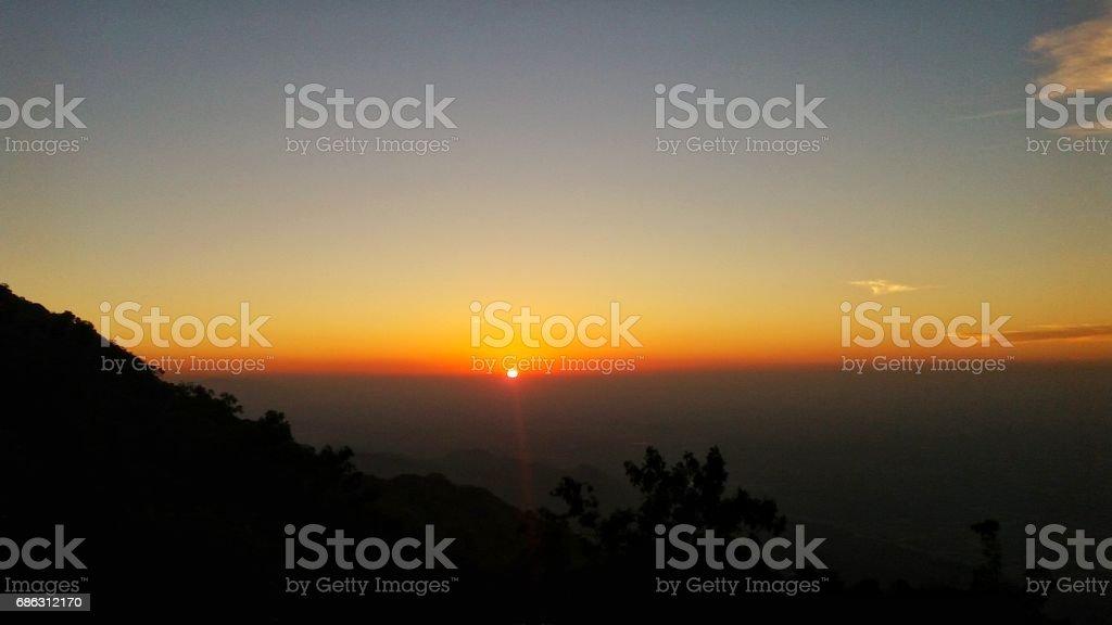 sunset point stock photo