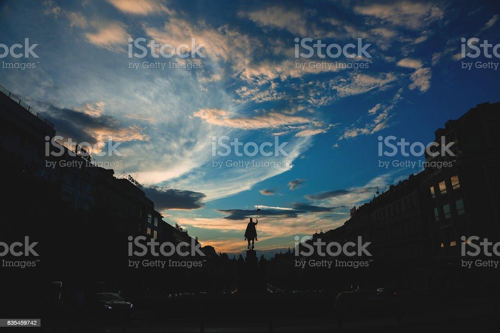 Sunset - Prague stock photo