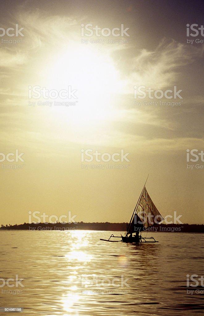 Sunset Prahu royalty-free stock photo