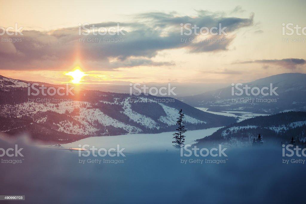 Sunset Åre Mountain Sweden Mountain Landscape stock photo