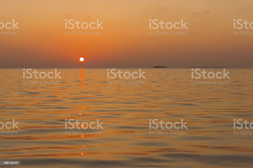 Sunset. Red. royalty-free stock photo