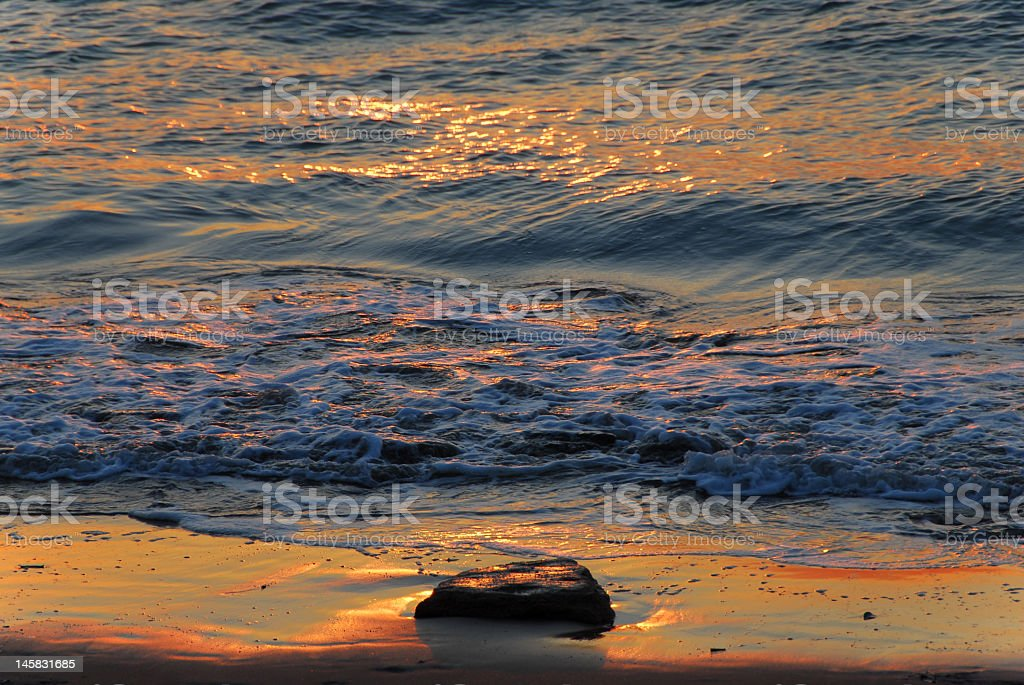 Sunset reflecting on the water. royalty-free stock photo