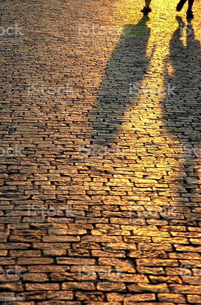 Sunset reflection royalty-free stock photo