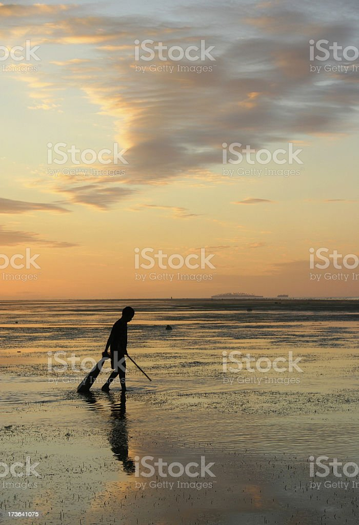Sunset Reflection royalty-free stock photo
