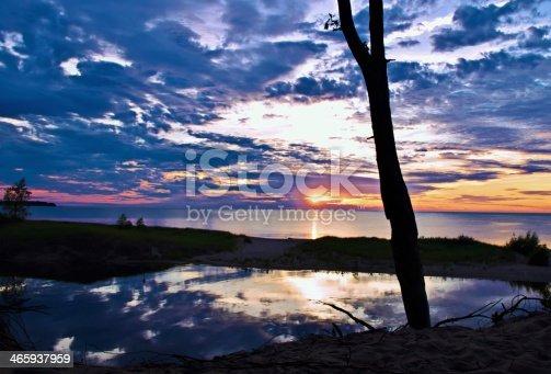832047798istockphoto Sunset Reflection 465937959