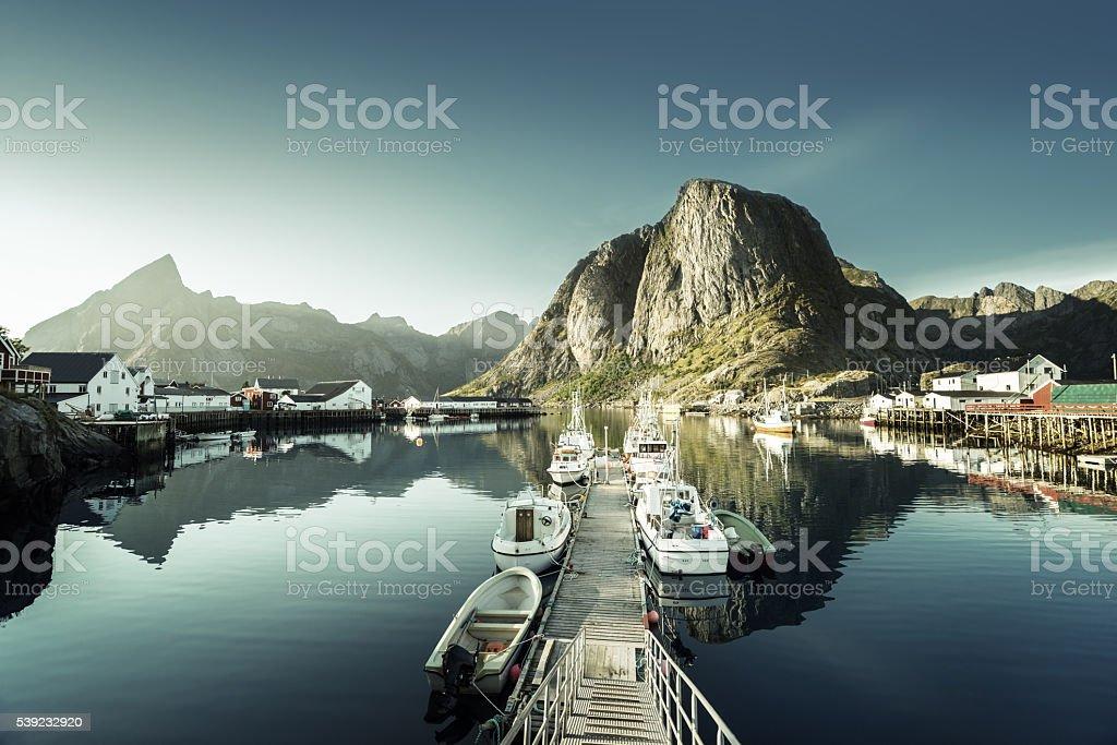 sunset - Reine, Lofoten islands, Norway royalty-free stock photo