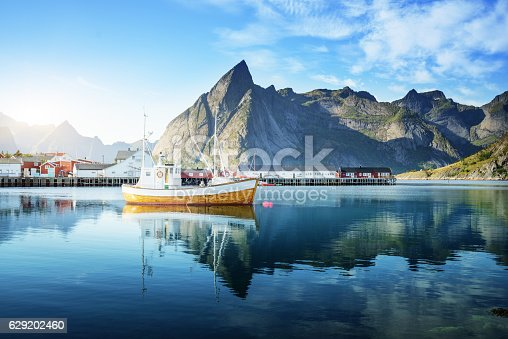 istock sunset - Reine, Lofoten islands, Norway 629202460