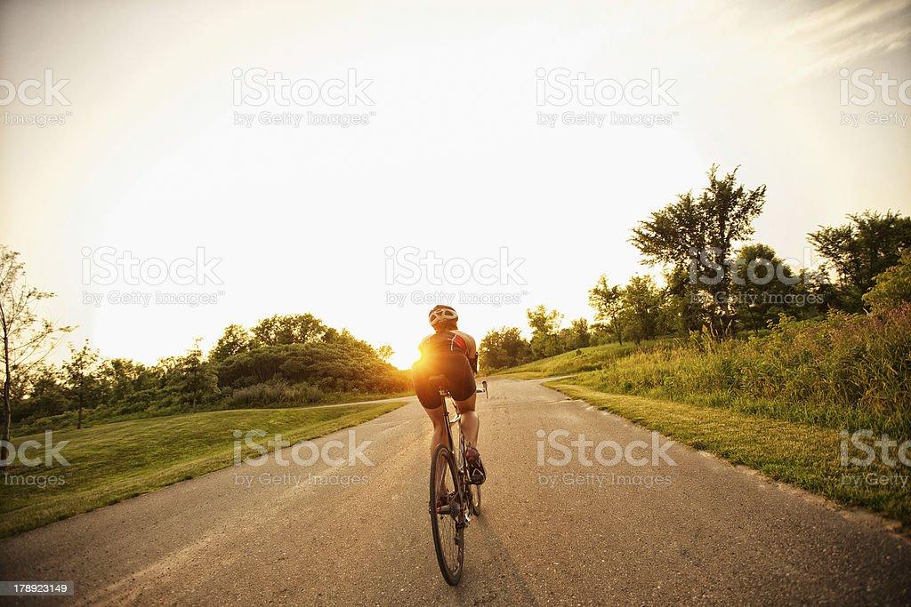 Sunset Ride stock photo