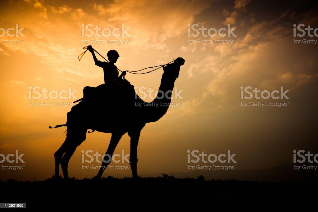 Sunset Rider royalty-free stock photo