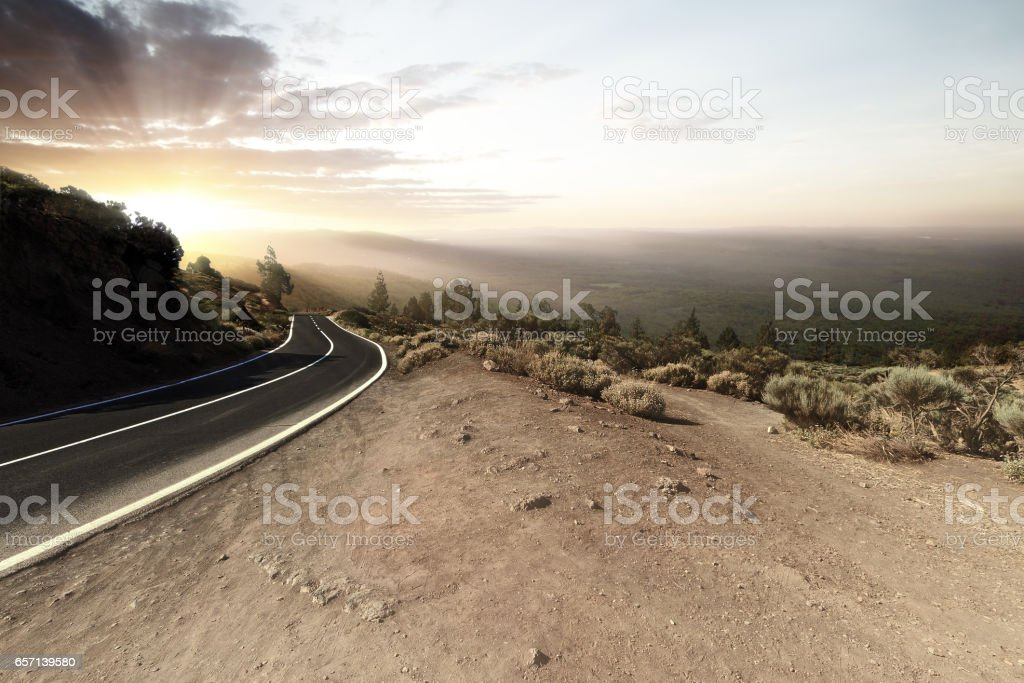 sunset road – Foto