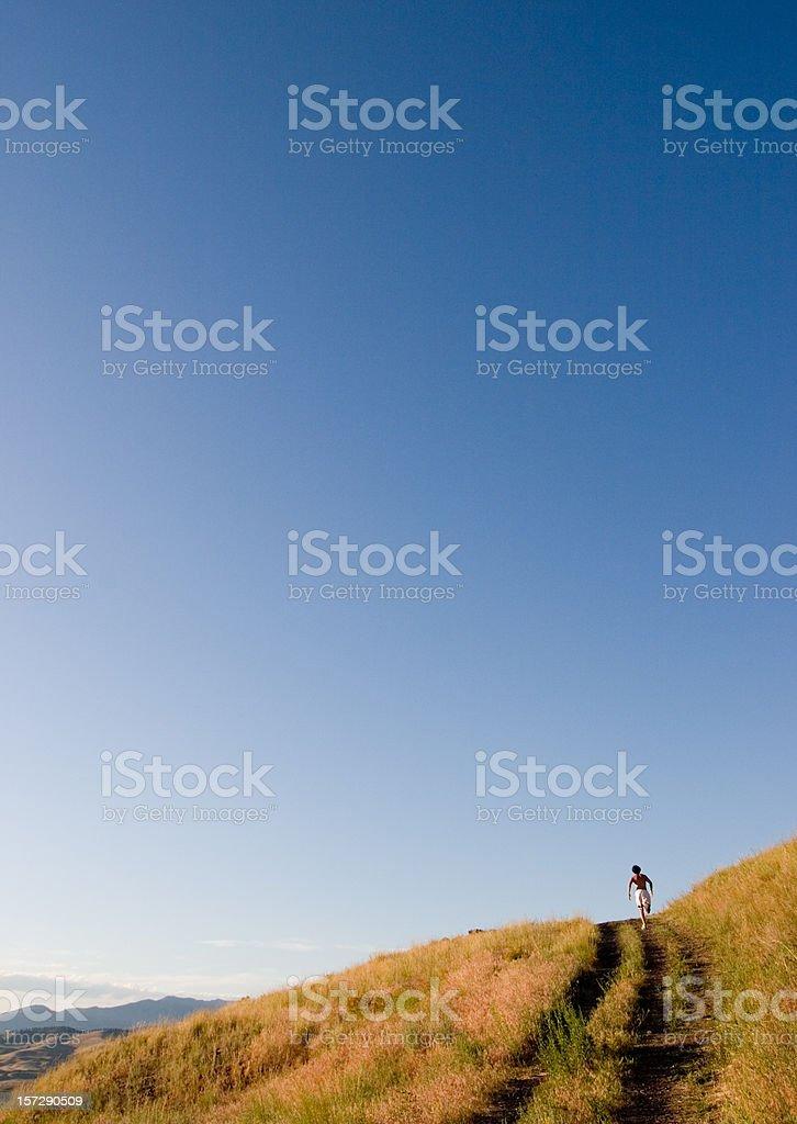 Sunset Runner royalty-free stock photo